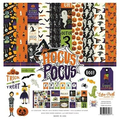 Halloween Falls Park (Echo Park 12 x 12 Hocus Pocus Halloween Trick Or Treat Fall Scrapbook Paper)