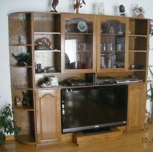 Solid Wood TV Wall Cabinet - PRICE REDUCED - MAKE AN OFFER