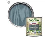 Cuprinol Beaumont blue 1 litre tins X2 brand new