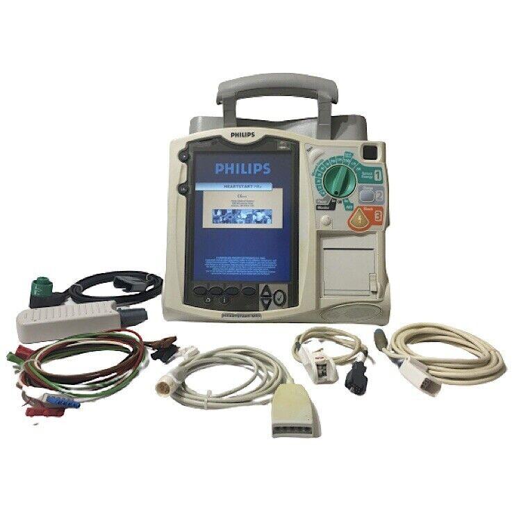 Philips Heartstart MRx With 12 Lead ECG And SpO2 Monitor Defibrillator