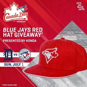 TORONTO BLUE JAYS CANADA DAY SUN JULY 1 HAT DAY DETROIT TIGERS
