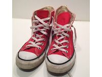 Red converse size 5