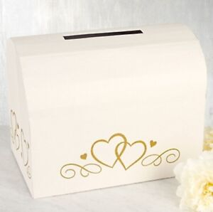 Ivory Wedding Card Holder Box