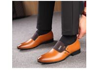 Men's real leather slip on new size 8 shoes