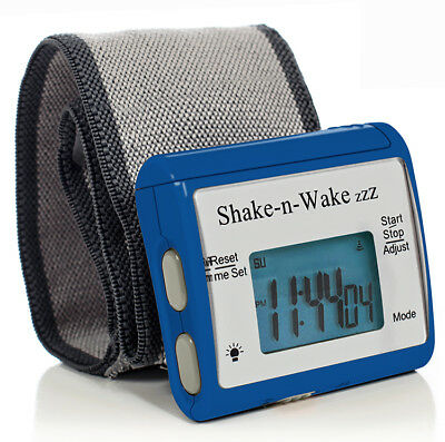 - Tech Tools Shake-n-Wake Silent Vibrating Alarm Wrist Watch (Blue) TPI-107BLU
