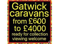Gatwick caravans we are open all day today Sunday