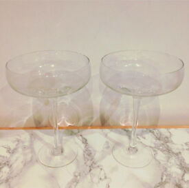 Two Sets of Two Champagne Saucers