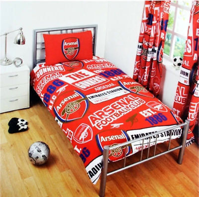 ARSENAL FC PATCH RED SINGLE DUVET COVER SET POLYCOTTON BEDDING KIDS & ADULTS ()