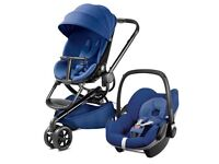 Blue base quinny moodd with carseat