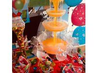 PARTY TABLES/ BALLOON ARCHES/ FRUIT DISPLAYS ETC