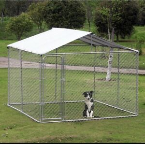 SELLING DOG KENNEL WITH ATTACHED ROOF