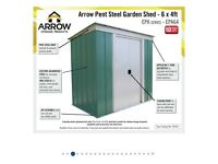 6ft x 4ft metal garden shed brand new