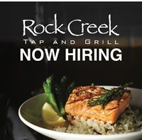 Looking for Servers, Bartenders, and Kitchen Management