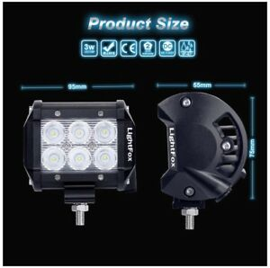 LED SQUARE SPOT LIGHT JEEP FARM SUV ATV TOW TRUCK