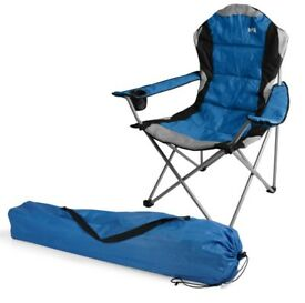 Trail Kestrel Blue Deluxe Padded Folding Chair - 4 available