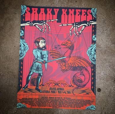 Shaky Knees Fest Poster 5/4-6/2018 Atlanta - GA Signed Artist Ed. #/30