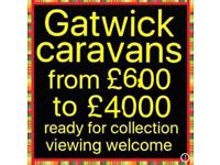 Gatwick caravans open all day Saturday & Sunday