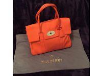 Large Mulberry Bayswater handbag in Orange Mandarin Tangerine for £500 plus PP
