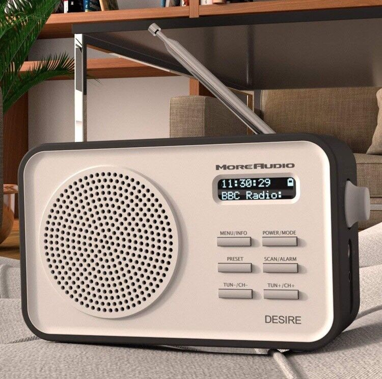 23f2dac3ca17 *BRAND NEW* AZATOM MoreAudio Desire DAB Digital FM Radio Alarm Clock -  Portable - Timer (Black)