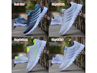 Men Mesh Breathable Lightweight Running Shoes Lace Up Sport Sneakers New