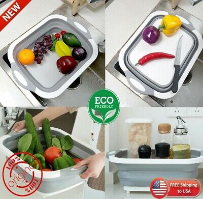Multifunction Foldable Chopping Board Washing Basket Kitchen Home Cooking Gadget Chop Board