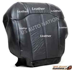 1999 2000 2001 2002 Chevy Silverado Bottom Driver Leather Seat Cover Dark Gray