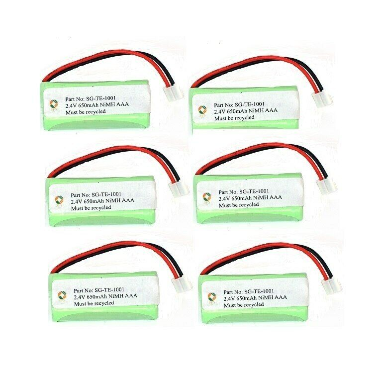 SPS Brand 2.4V 650 mAh Replacement Battery for Rayovac TEL10213 (6 Pack)