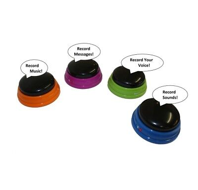 (1) RECORDABLE Answer Buzzer for Kids Classrooms Game Show Sound Effects (Buzzers For Games)