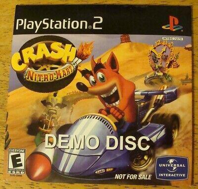 PlayStation 2/PS2 ~Crash Nitro Kart~ NOT FOR RESALE/DEMO DISC..MINT & SEALED..