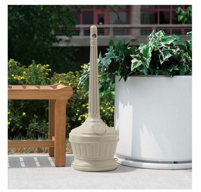 Smokers Sand Free Receptacle Outpost Patio Cigarette Butt Ashtray Stand    Beige