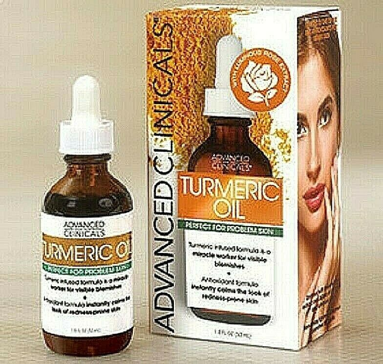 Turmeric Oil Advanced Clinicals Skin Non Greasy Antioxidant Anti-inflammatory Anti-Aging Products