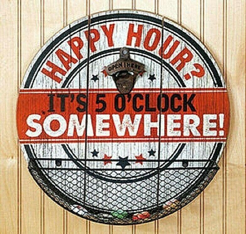 Beer Cap Catcher Opener Happy Hour Wall Mounted Bottle Opener With Cap Catcher Bar Tools & Accessories