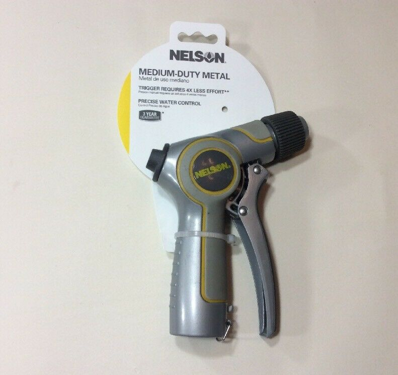 Nelson Medium Duty Metal, Trigger Requires 4X Less Effort, Precise Water Control