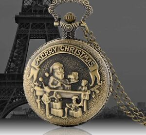MERRY CHRISTMAS POCKET WATCH (NEW)
