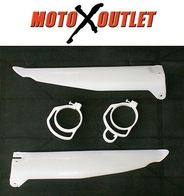 Kawasaki Fork Guards KX 125 250 500 Protectors Lower Plastic Cover Guides 96-03