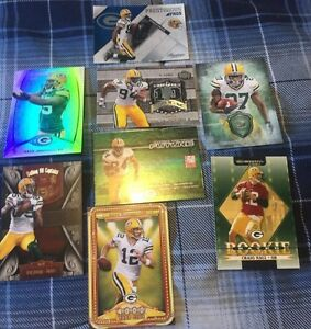 8 Green Bay Packers RC Inserts & Numbered Cards