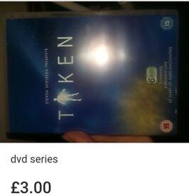 Steven Spielbergs Taken series on dvd