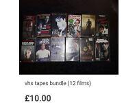 Vhs tapes bundle (12 films)