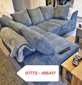 ☑️☑️ Jumbo Cord Corner Or 3+2 seater Sofa
