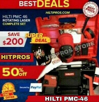Hilti Laser Level Pmc-46 Brand New Free Laser Meter Extras Fast Ship