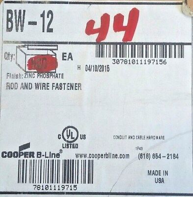 Caddy Bw-12 Rod And Wire Fastner Box Of 44