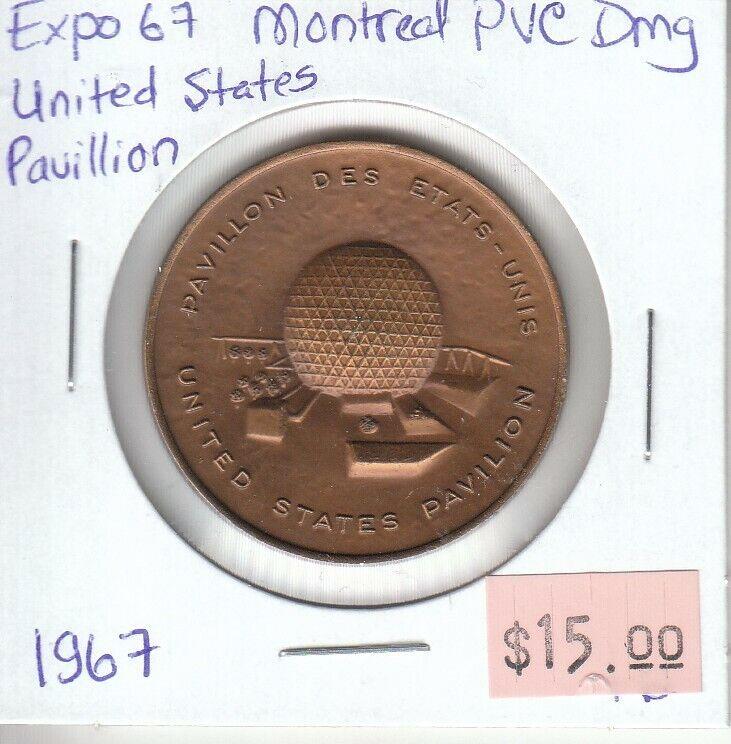 Canada Centennial Token - Expo 67 Montreal - United States Pavilion - 1967
