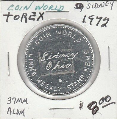 Lam  Sidney  Oh   Linns Weekly Stamp News   Coin World   1972   37 Mm Aluminum