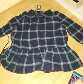 flannel top size 18