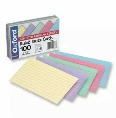 Oxford Printable Index Card - 3 X 5 - 100 Lb - Recycled - 100 Pack - Green