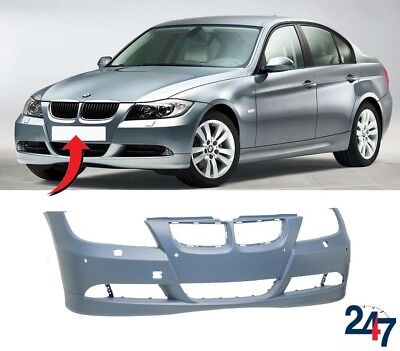 NEW BMW 3 SERIES E90 E91 2005-2008 FRONT BUMPER WITH LIGHT WASHER AND PDC HOLES for sale  Shipping to Ireland