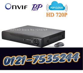 ahd 8 channel dvr 1080p with 1 tb harddrive for cctv cameras with phone view app xmeye