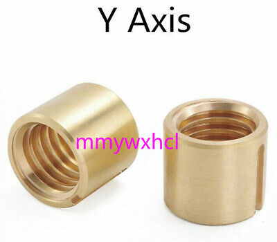 2pcs Bridgeport Milling Machine Brass Cross Feed Nut Part Y Axis Vertical Mill