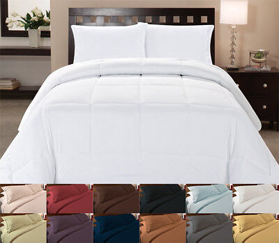 White Comforter Alone or With Color Duvet Cover 4 Piece Bedroom Bed Set