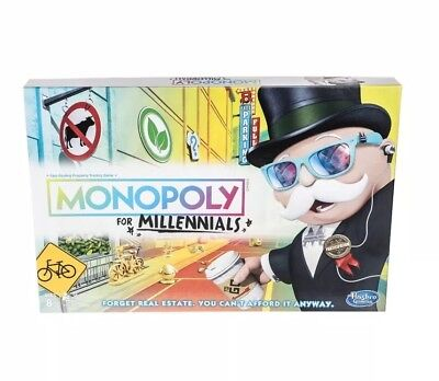 Monopoly for Millennials Millenials Board Game VHTF Hot Toy Hasbro NEW Free Ship